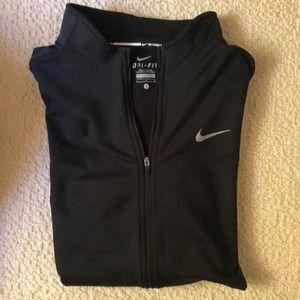 NIKE dry-FIT zipper running top